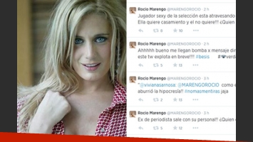 Rocío Marengo, desatada en Twitter. (Fotos: Web y Twitter @marengorocio)