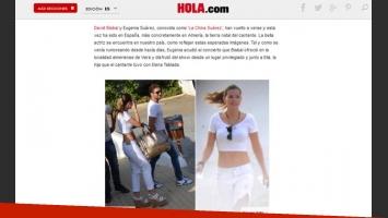 China Suárez y David Bisbal pasearon por Almería (Captura: Hola.com)
