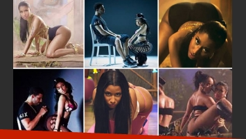 Nicki Minaj estrenó el video de Anaconda y revolucionó las redes sociales por su cola. (foto: capturas video)