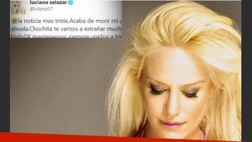 Luciana Salazar, triste por la muerte de su abuela. (Foto: Web)