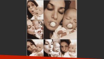 Silvina Escudero y una foto súper dulce con su sobrino (Fotos: Web y Twitter).