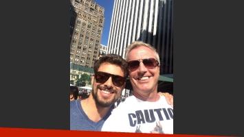 Cauã Reymond y Marley se encontraron en Nueva York. (Foto: @marley_ok)