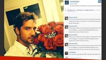 El romántico mensaje de Bisbal a Eugenia Suárez (Foto: Instagram).