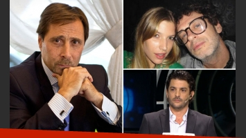 Eduardo Feinmann defendió a Pablo Rago y Chloé Bello. (Fotos: Web)