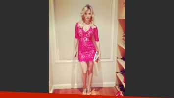 Luisana Lopilato y su estilo para la avant de Las insoladas. (Foto: Instagram Bernie Catoira)