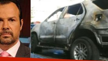 Incendiaron la camioneta de Gustavo Sylvestre (Foto: Web y Clarín)