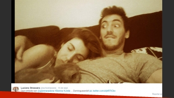 Gianinna Maradona y Luciano Strassera, enamorados (Foto: Twitter)
