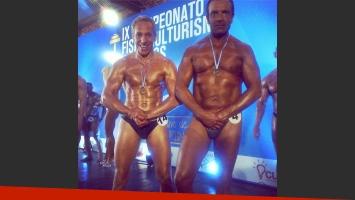 Marcelo Mazzarello y Marcelo de Bellis posaron en sunga en Viudas e Hijos (Foto: Instagram)