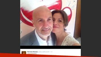 Marcela Morelo se casó con Rodo. (Foto: Twitter)