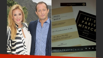 La polémica invitación al casamiento de Jésica Cirio y Martín Insaurralde. (Fotos: Web y Twitter)