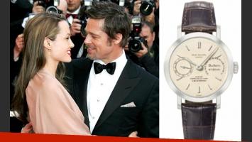 El costoso reloj que Angelina Jolie le regaló a Brad Pitt. (Fotos: Web)