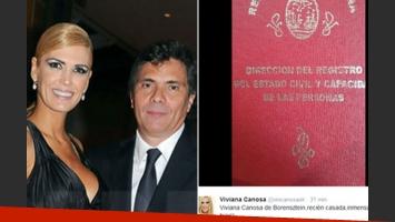 Viviana Canosa se casó con Alejandro Borensztein. (Fotos: Caras y Twitter)