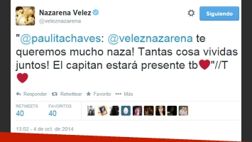 La respuesta de Paula a Nazarena (Foto: Twitter)