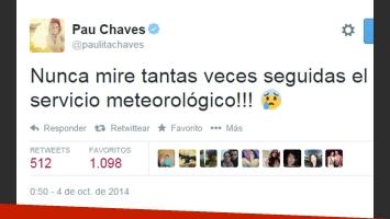 La preocupación de Paula Chaves en el día de su boda (Foto: Twitter)