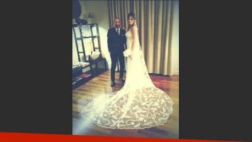 Paula Chaves con su diseñador, Gabriel Lage. (Foto: Twitter @GabrielLageOK)