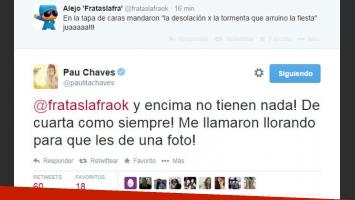Paula Chaves, muy molesta por por la última portada de revista Caras (Foto: Captura).