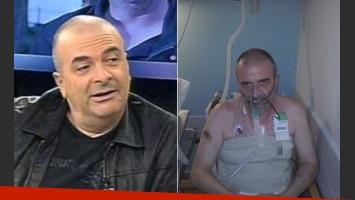 Fuerte imagen de Atilio Veronelli desde terapia, y un valiente testimonio: