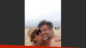 Mónica Antonópulos y Mike Amigorena, en Brasil. (Foto: Twitter)