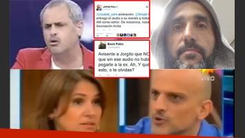 El tweet de Rial para Fernanda Iglesias, y la respuesta de su marido. (Fotos: archivo Web y Twitter)