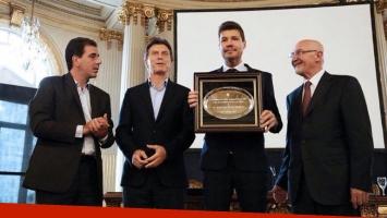 Marcelo Tinelli fue distinguido como personalidad de la cultura por la Legislatura porteña. (Foto: @cristianritondo)