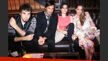 Dante Spinetta, Emmanuel Horvilleur, Natalia e  Ivana Figueiras, juntos (Foto: Gente)
