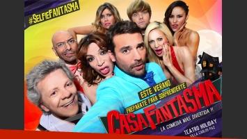 Casa fantasma presentó el cartel promocional de la obra con una selfie divertida y original (Foto: prensa VIG Comunicaciones)