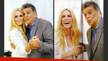 El encuentro de Luis Ventura y Viviana Canosa. (Foto: revista Paparazzi)
