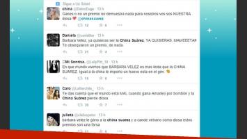 La catarata de tweets contra Barbie Vélez (Foto: Captura).