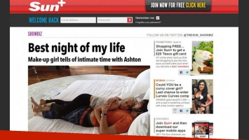 La fotografía de Ashton Kutcher y su supuesta amante (Foto: Web).