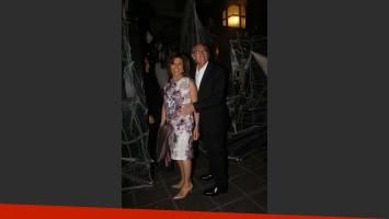 Carlos Bianchi y su mujer Margarita en el cumple de Marcela Tinayre. (Foto: Movilpress)