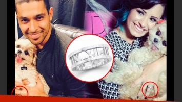 Demi Lovato y Wilmer Valderrama comparten el mismo anillo. (Foto: Web)