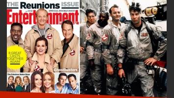 Los Cazafantasmas en la portada de Entertainment Weekly. (Foto Web)