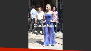 Priscila, la sobrina de Jésica Cirio fue testigo de la modelo en el civil. (Foto: Movilpress)