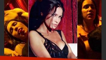 El video de Nieves Jaller con tres hombres, parte de una película erótica. (Fotos: Web)