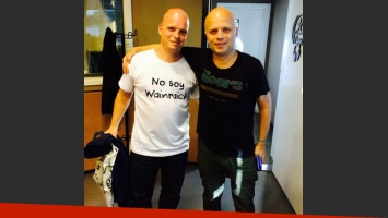 Philippe Reichen y Sebastián Wainraich, ¿mellizos separados al nacer? (Foto: @matiasmartin)