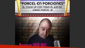 Jorge Porcel Junior se presentará con su unipersonal, Porcel en porciones.