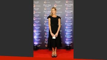 Claudia Fontán eligió un vestido negro para el evento (Foto: Prensa El Trece).