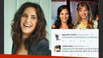 Julieta Díaz intercambió mensajes privados vía Twitter con una
