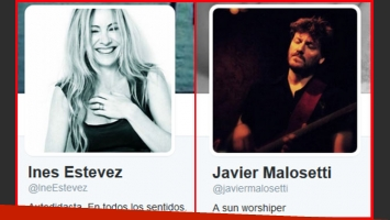 El romance de Inés Estévez y Javier Malosetti (Fotos: Twitter)