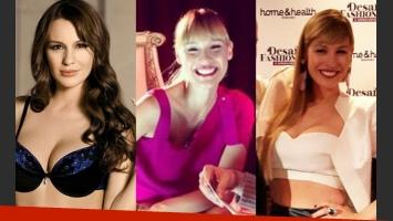 Pampita: de castaña oscura a rubia con flequillo, ¡siempre diosa! (Fotos: Web y Twitter).