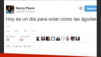 Nancy Pazos y un mensaje llamativo el día del casamiento de su ex (Fotos: Web y Movilpress).