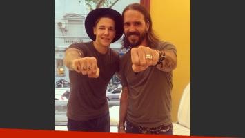 Alexander Caniggia continúa estampando su piel: mirá sus nuevos y excéntricos tatuajes  (Foto: Instagram)