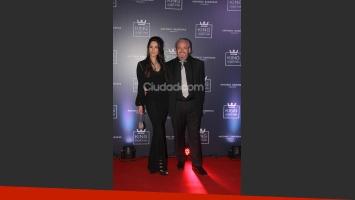 Victoria Vannucci y Matías Garfunkel  en la gala de Antonio Banderas. (Foto: Movilpress)