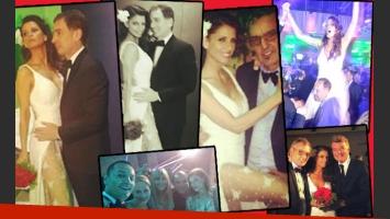 La fiesta de casamiento de Diego Santilli y Analia Maiorana. (Foto: Twitter)