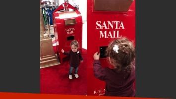 Nina, la hija de la pareja le envió una cartita a Santa. (Foto: Instagram)