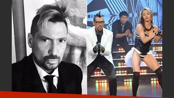 Luciano El Tirri volvió a ShowMatch tras su internación. (Fotos: Twitter y Captura TV)