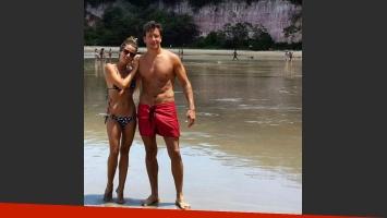Gimena Accardi y Nico Vázquez, vacaciones a puro relax.  (Fotos: Instagram)