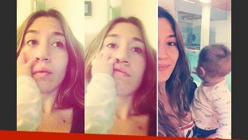 Jimena Barón pudo solucionar el problema de sueño de su hijo. (Fotos: Instagram)