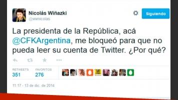 El tweet de Nicolás Wiñazki anunciando la llamativa noticia. (Foto: Twitter)