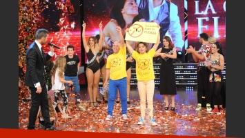 Anita Martínez y el Bicho Gómez, ganadores de Bailando 2014. (Fotos: Prensa Ideas del Sur)
